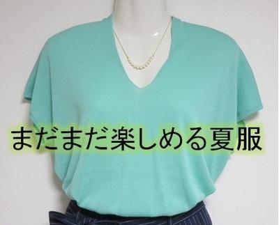 【夏物セール】今お得に買ってまだまだ楽しめる夏服|ピーコックグリーンのサマーセーターを購入