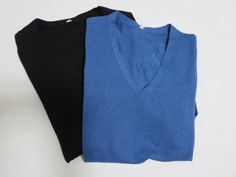 【無印良品】オーガニックコットンシルクVネックセーター|春に向けてのニットを購入