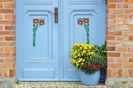 【アズマ】ブラッシングスポンジ・玄関タイル用|玄関やベランダの掃除に